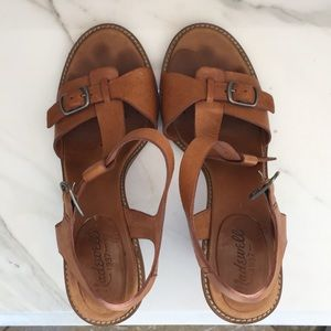Madewell leather open toe sandals